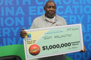 Parking lot attendant Terry Wallington, of Wilmington, won $1 million playing Powerball on Wednesday.