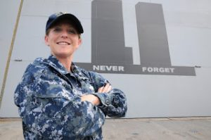 Wilmington native and Petty Officer Second Class Amanda Brittingham is a mass communication specialist aboard USS New York. (Photo coourtesy of the U.S. Navy.)
