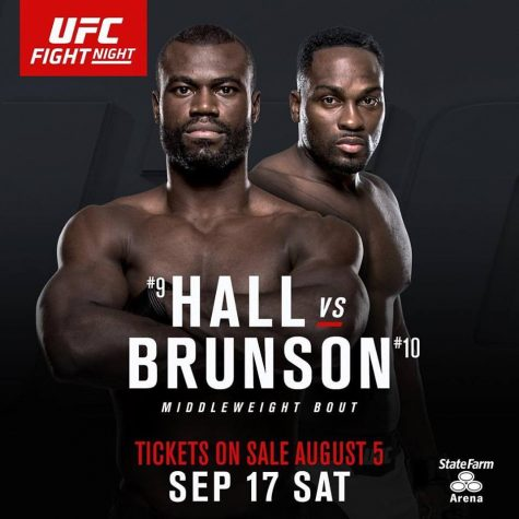 Derek Brunson faces Uriah Hall in the co-main event as part of UFC Fight Night 94. Photo courtesy- UFC