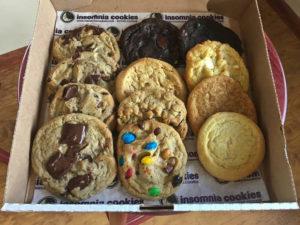 A dozen of Insomnia Cookies' signature goods. Photo by Hannah Leyva.