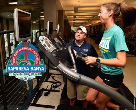 Sarah Hamon spent the last few months training for her trip to Bulgaria. Photo courtesy- UNCW Sports