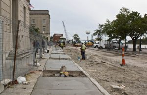 Construction on Water Street in downtown Wilmington. Photo by Hannah Leyva.