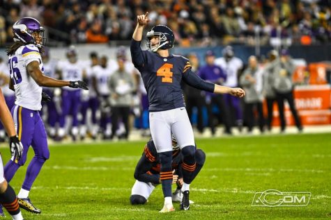 Connor Barth was 2-for-2 on attempts during Monday's contest. Photo courtesy- www.ChicagoBears.com