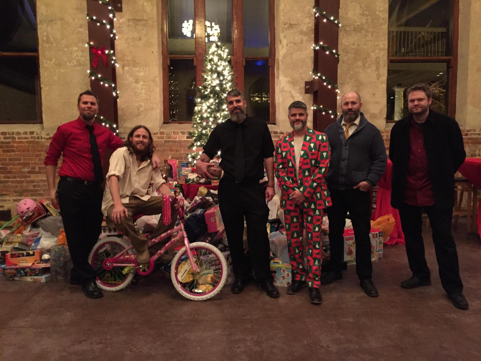 L Shape Lot raised several thousand dollars in toys at the annual Toys for Tots concert in 2015. Photo courtesy of Eric Miller.