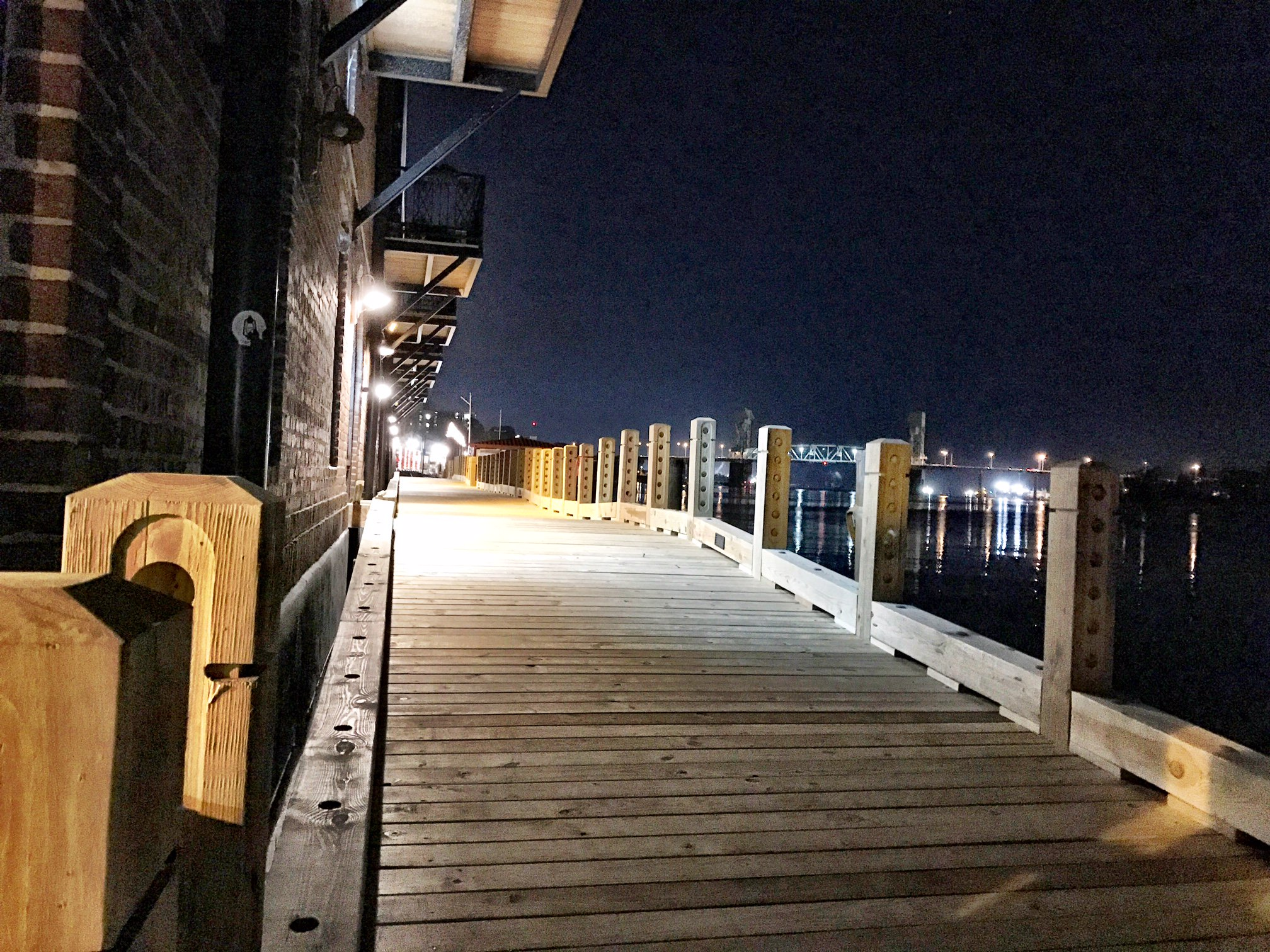 A portion of downtown Wilmington's riverwalk, in front of the Brooks Busilding, is set to open in late January. (Photo courtesy of the city.)
