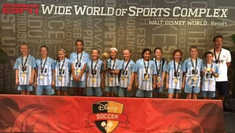 Wilmington Hammerheads Youth FC brought home first-place during a Thanksgiving trip to Disney World. Photos courtesy- Mark Johnson