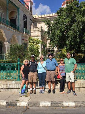 Left to right: Joy Donat, Luke Donat, Lavonne Donat, Win Donat, Lily Donat and Pete Donat in Cuba.