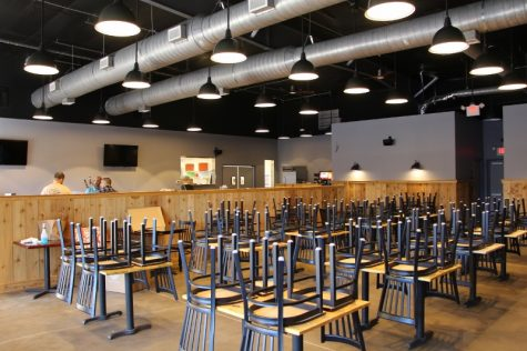 The dining room at Wrightsville Beach Brewery.
