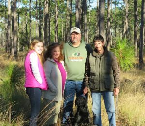 Mr. Marty Lanier, who is pictured with his family: wife Cyndi, son Jonathan, daughter Amanda, and dog Morgan. (Credit: Marty Lanier)