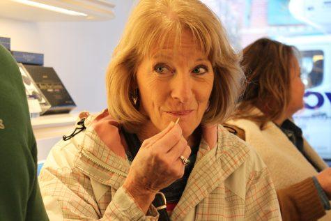 Carter's mother enjoys some chocolate. (Photos courtesy Allison Carter)