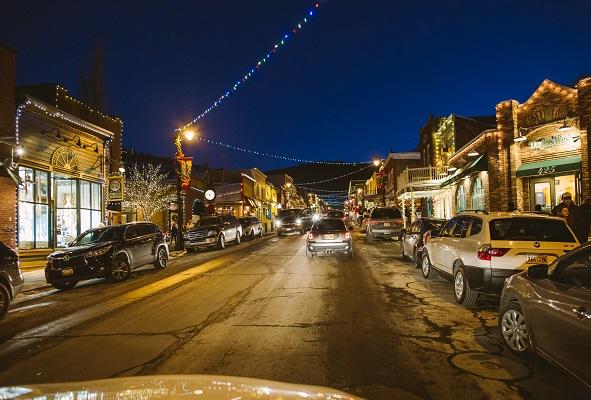 Main Street in Park City, where the Sundance Film Festival is held.