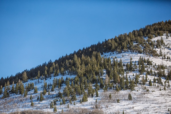 A mountain in Park City, Utah.