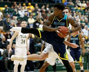 Devontae Cacok recorded a double-double for UNCW. Photo courtesy- UNCW sports