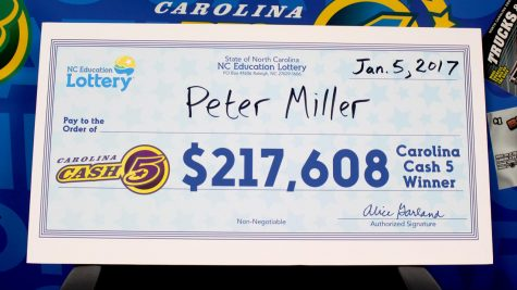 Peter Miller, of Southport, won thousands from a winning Carolina Cash 5 ticket. (Photo courtesy of the N.C. Education Lottery.)