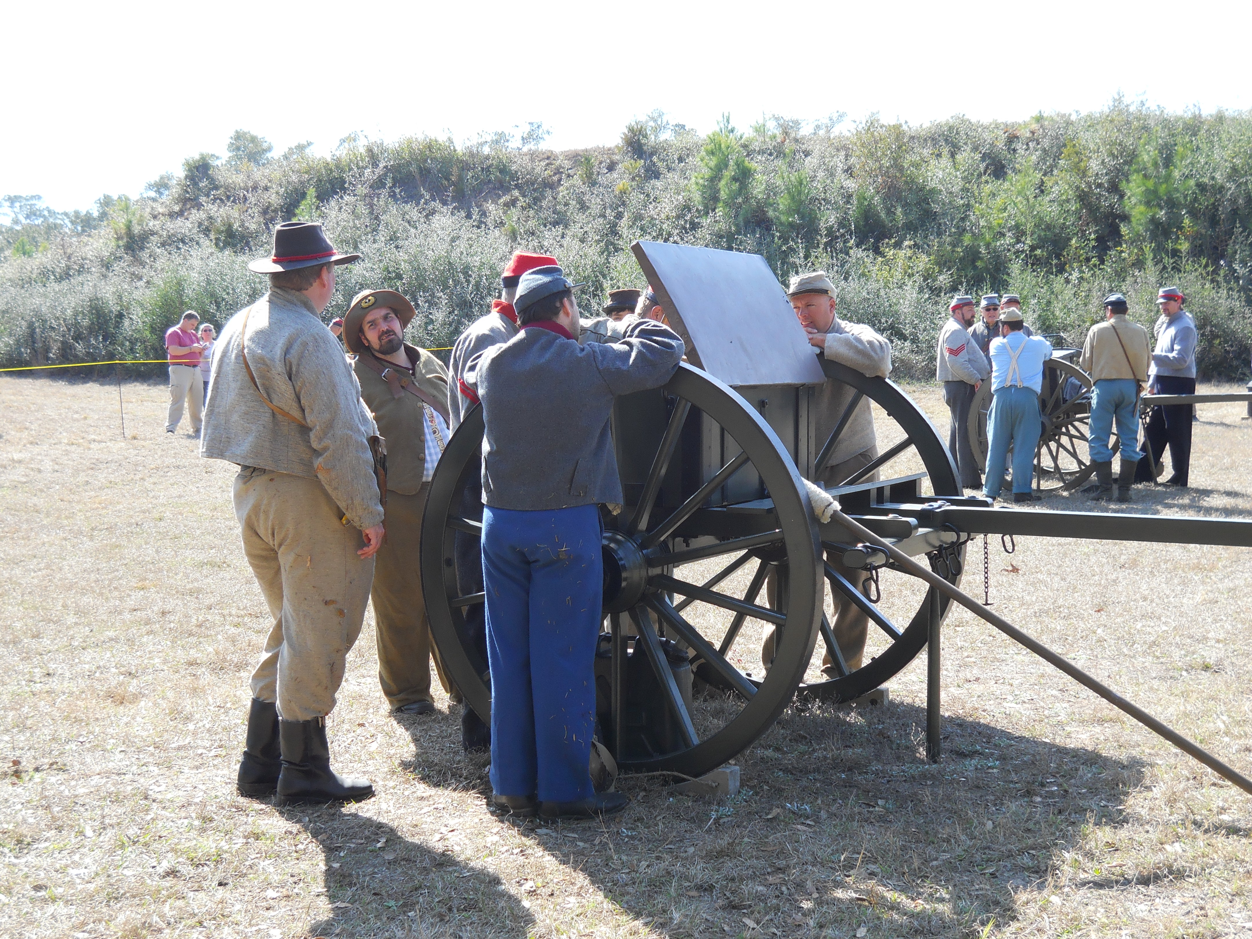 Reenactors ready cannons for fire. Photos by Christina Haley.