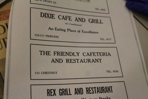 The Friendly Cafeteria and Restaurant was once around the corner from the original Dixie Cafe and Grill. (1944-1945 Wilmington Business Directory, photo Benjamin Schachtman)