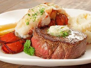 From February 10th-14th, in addition to their regular menu, Johnny Luke's will offer a Couples Surf & Turf Dinner for Valentine's Day.