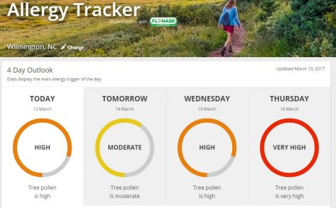 Look for the daily allergy tracker at www.weather.com. Photo courtesy- The Weather Channel.