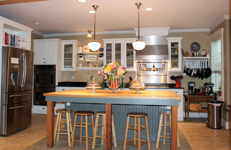 the bell clemmons house kitchen has a large island a gas stove and plenty - Clemmons Kitchen