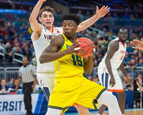 Devontae Cacok played a big role inside for UNCW on Thursday. Photo courtesy- UNCW sports.