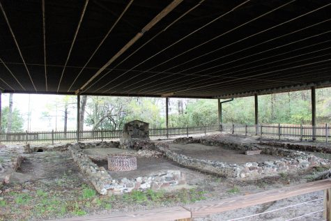 The ruins at Russellborough were excavated in the 1960s. The area's first toilet was located among the ruins.