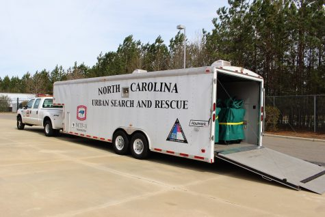 This N.C. Search and Rescue trailer carries tents needed to shelter teams during response.