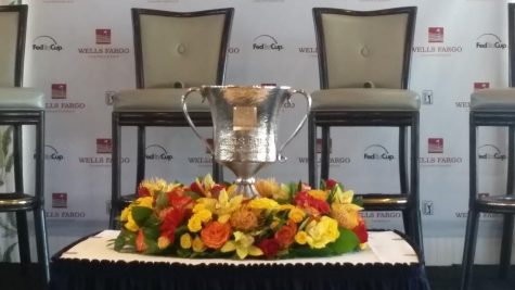 """The Wells Fargo Championship Trophy was on display at Eagle Point Golf Club during """"Media Day"""" earlier this month."""