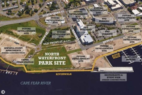 Location of the proposed park, at the north end of downtown Wilmington. (Courtesy City of Wilmington)