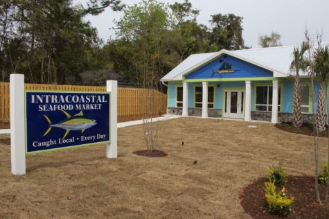 Fresh, local seafood is coming soon to Intracoastal Seafood Marketon Oleander Drive. If you've driven by this building and wondered, 'when's that opening?' the answer is, 'soon.' (Photo by Benjamin Schachtman)
