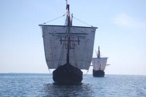 Nina & Pinta out to sea