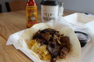 The Breakfast Brisket Taco (Port City Daily photo/CORY MANNION)