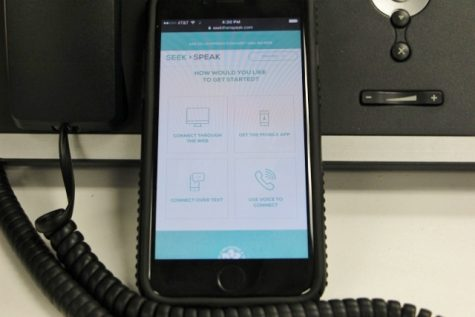 The Seek Then Speak interface allows users to choose web, mobile, text or multilingual automated phone ways to communicate. (Photo Benjamin Schachtman)