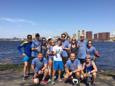 Wilmington runners along the Charles River in Boston. (Port City Daily photo/COURTESY OF STUART ROSS)