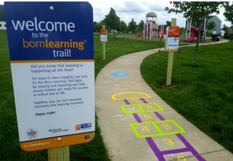 The United Way and the NFL have built 'Born Learning Trails' all over the nation; the Carolina Panthers and the United Way of the Cape Fear Area have teamed up to build one in Creekwood. (Port City Daily photo / UNITED WAY)