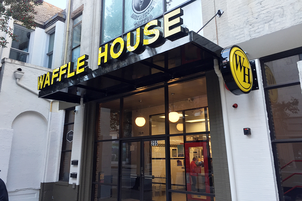 The Wait Is Finally Over; Waffle House Opened Its Doors This Morning In  Downtown Wilmington