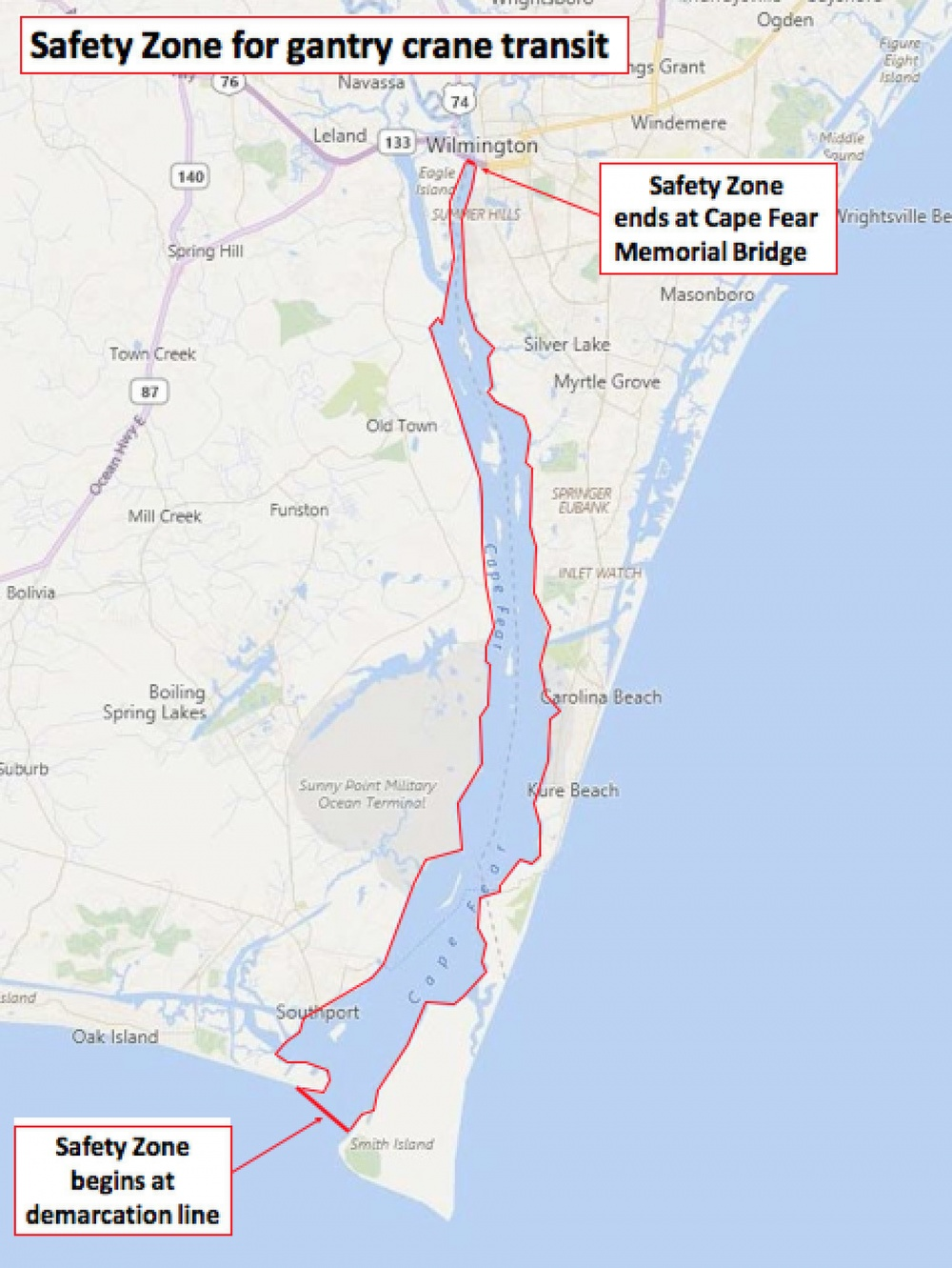 Coast Guard will temporarily close Cape Fear to all traffic, moored ...