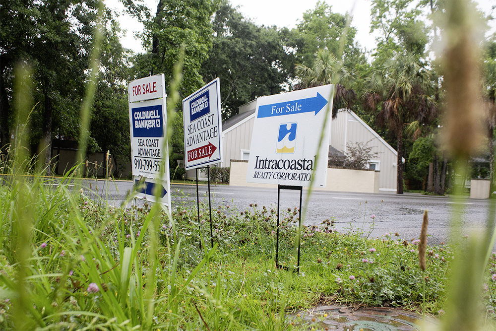 """Available real etateinventory is being """"gobbled up"""" according to Patrick LaJeunesse, spokesperson for Cape Fear REALTORS®. LaJeunesse said the month's supply of real estate inventory is the lowest he's seen since 2006. (Port City Daily/Johanna Ferebee)"""