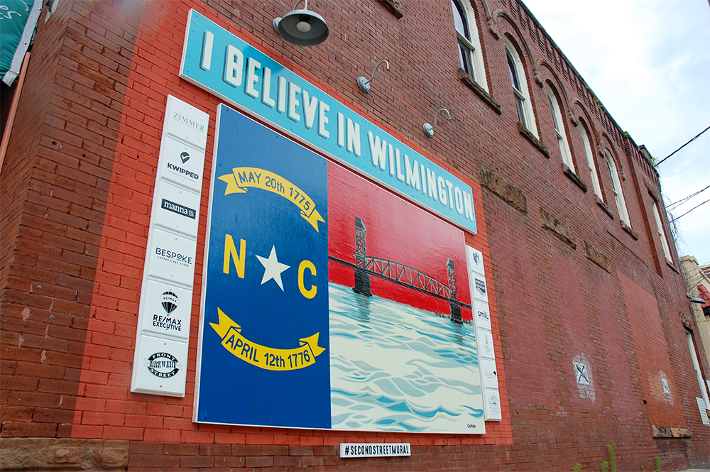 """The Second Street """"Mural"""" in downtown Wilmington is now its own business. It owner Billy Mellon said the business will operate as a non-profit and will donate profits to small, local charities. (Port City Daily/Johanna Ferebee)"""