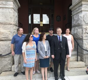 Plaintiffs as well as their attorneys held a press conference in Downtown Wilmington Tuesday (Port City Daily/Michael Praats)