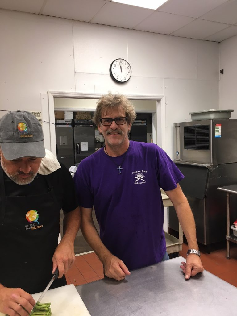from left chef matthew wertman diamond food enterprise owner steve lambros the world - World Central Kitchen