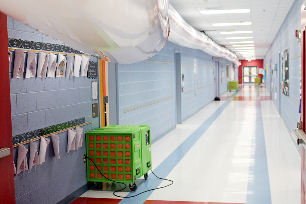 Brunswick County Schools have placed dehumidifiers at Bolivia Elementary and other facilities to ensure its schools are safe for students upon return. (Port City Daily photo/Courtesy Brunswick County Shools)