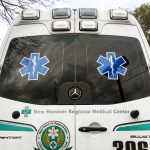 Each of New Hanover Regional Medical Center's 17 Emergency Medical Services vehicles is equipped with monitors that incorporate artificial intelligence technology. (Port City Daily photo/Johanna Ferebee)