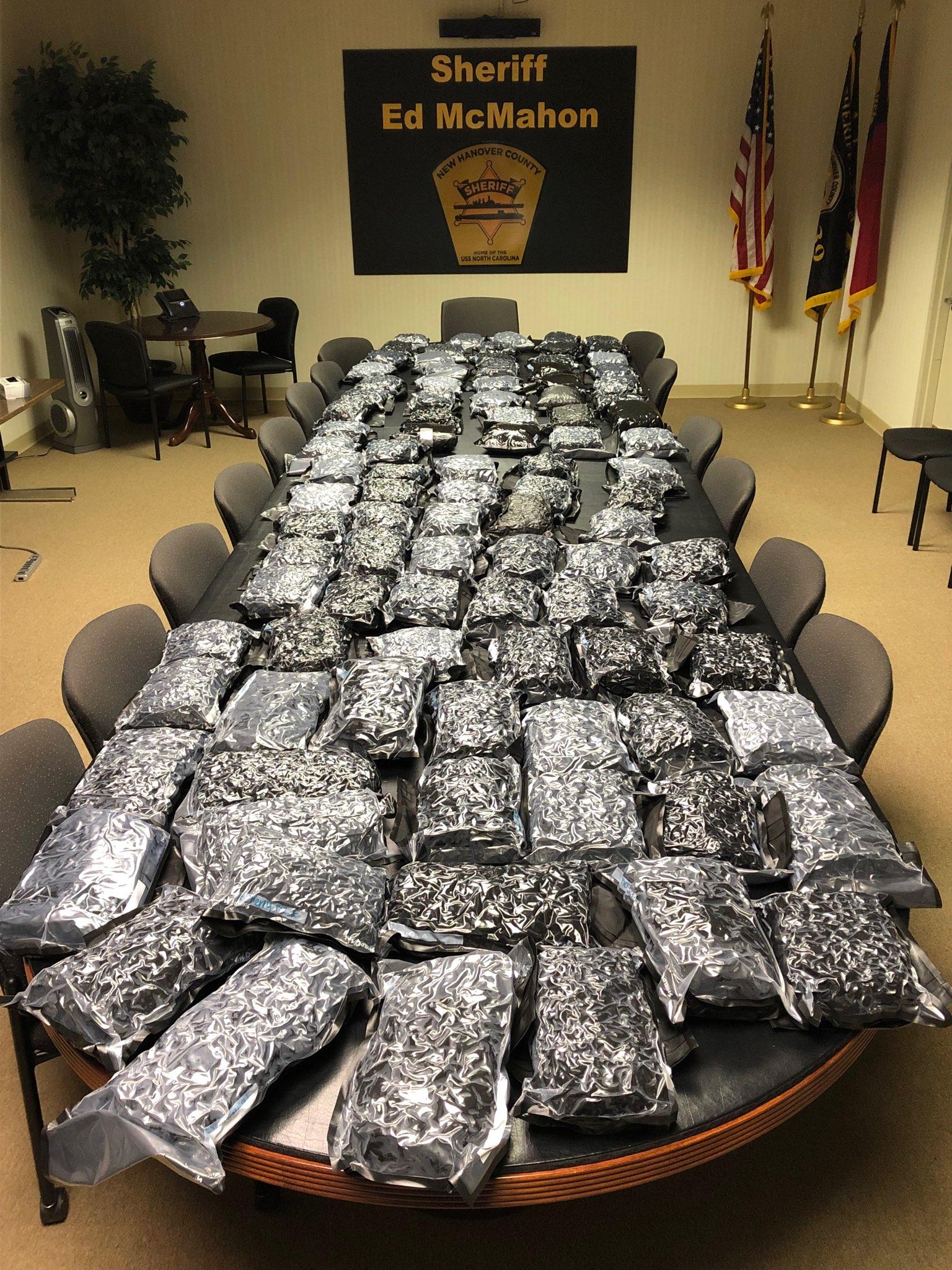 New Hanover Sheriff's Office sting seizes 100-pound shipment