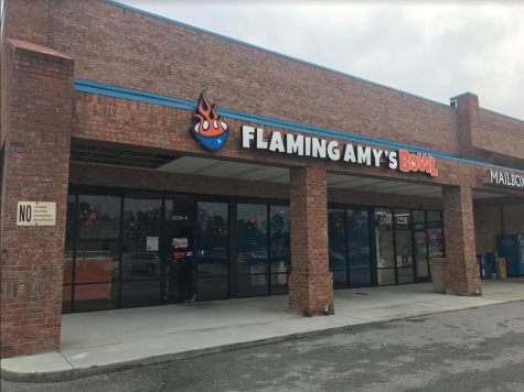 The former Flaming Amy's Bowl location in Northchase will be the new home for sushi burritos. Yes. Burrito-sized sushi. (Port City Daily photo / Benjamin Schachtman)