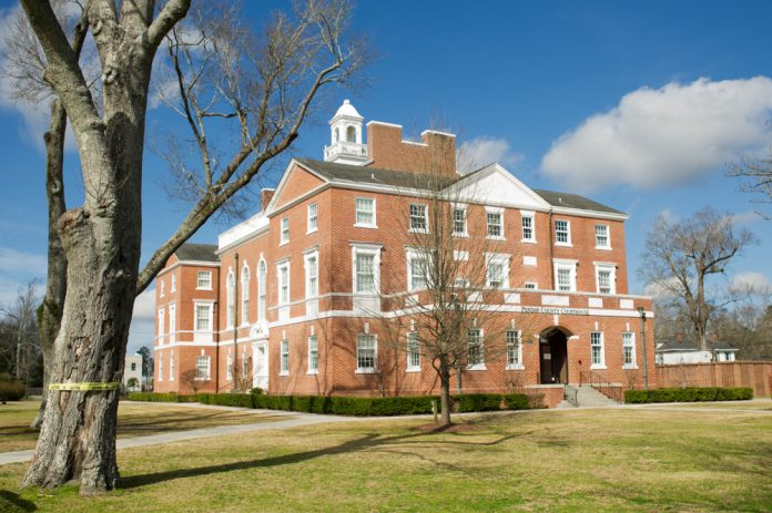 More than five months after Hurricane Florence brought extensive water and mold damage to the Pender County Courthouse, the county continues to wait for approval on its restoration plan. (Port City Daily photo/Mark Darrough)