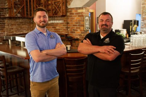 Zach Harmon and Allen Carpenter are set to open Rooster and the Crow in Chandler's Wharf on Water Street. It will replace NeMa Burger and Pizza Lounge, which owners closed due to Florence-related damages. (Port City Daily photo/Mark Darrough)