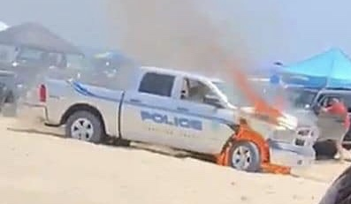 A police car has fired on Carolina Beach (Port City Daily / Facebook)