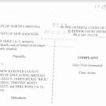 Filed in Superior Court this week, the complaint against the New Hanover County Schools makes allegations against top administrators and the Board of Education. (Port City Daily photo / New Hanover County Superior Court)