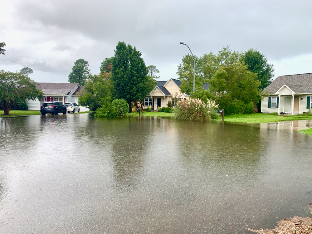 Flooding in Odgen during Hurricane Dorian was not quite as bad as Florence, but still raising questions for residents (Port City Daily/Michael Praats)