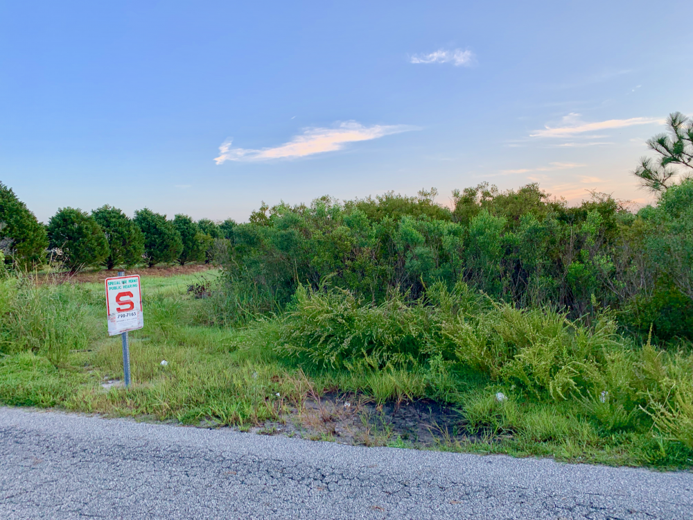 About 15 of 30 acres of land in northern New Hanover County could be rezoned to allow for a new mixed-use development (Port City Daily/Michael Praats)
